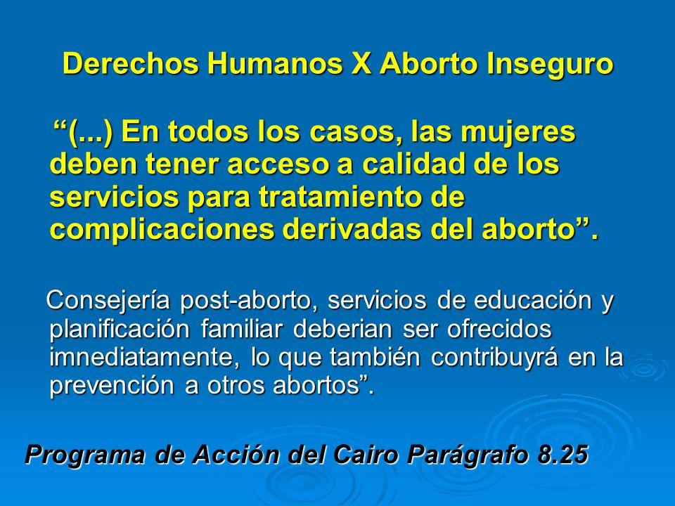 Derechos Humanos X Aborto Inseguro