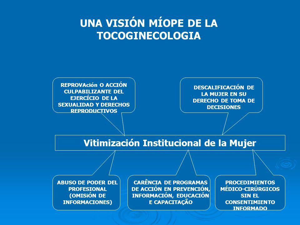 UNA VISIÓN MÍOPE DE LA TOCOGINECOLOGIA