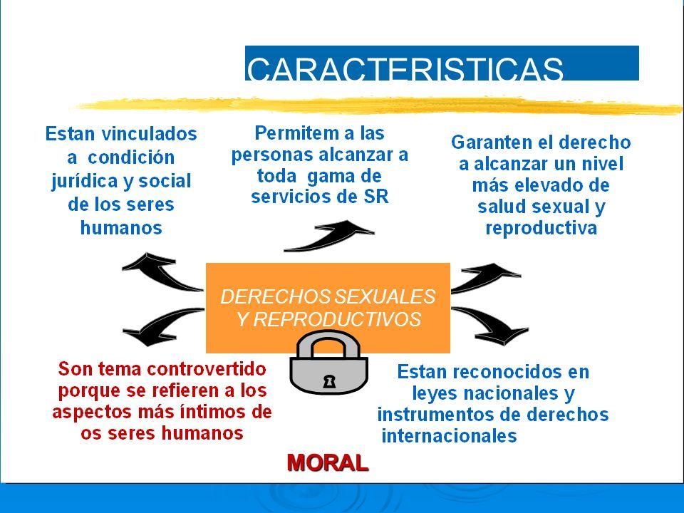 CARACTERISTICAS DERECHOS SEXUALES Y REPRODUCTIVOS MORAL