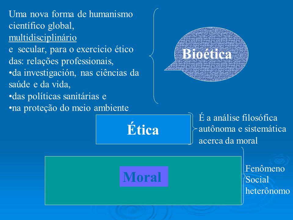Bioética Ética Moral Uma nova forma de humanismo