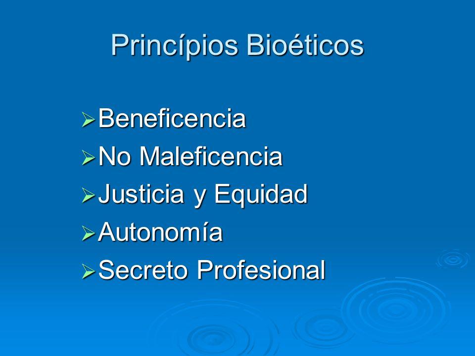 Princípios Bioéticos Beneficencia No Maleficencia Justicia y Equidad