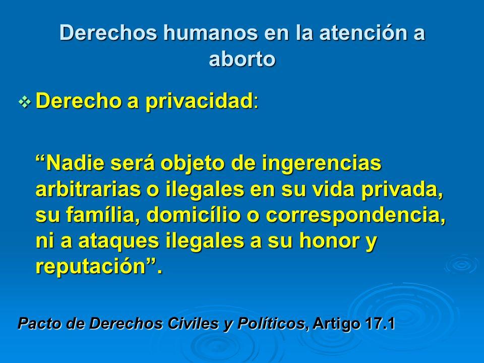 Derechos humanos en la atención a aborto