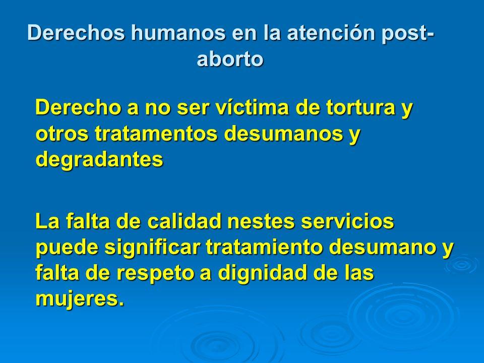 Derechos humanos en la atención post-aborto