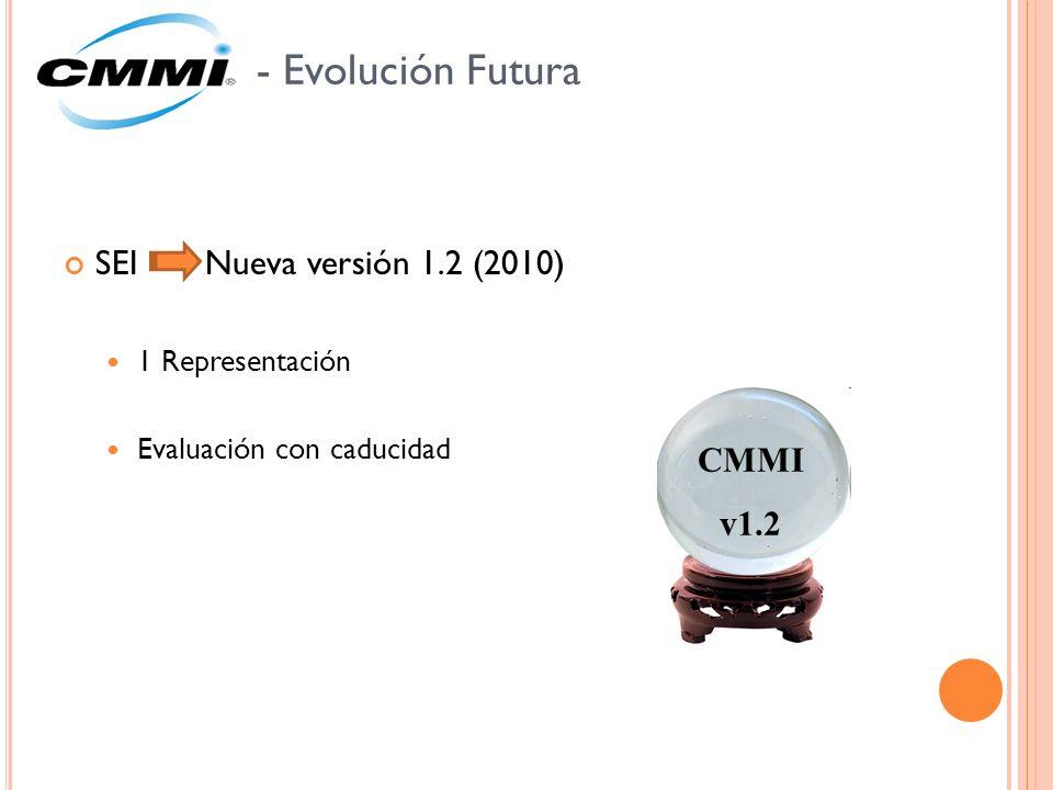 - Evolución Futura SEI Nueva versión 1.2 (2010) CMMI v1.2