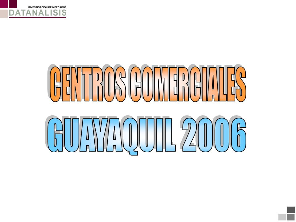 CENTROS COMERCIALES GUAYAQUIL 2006