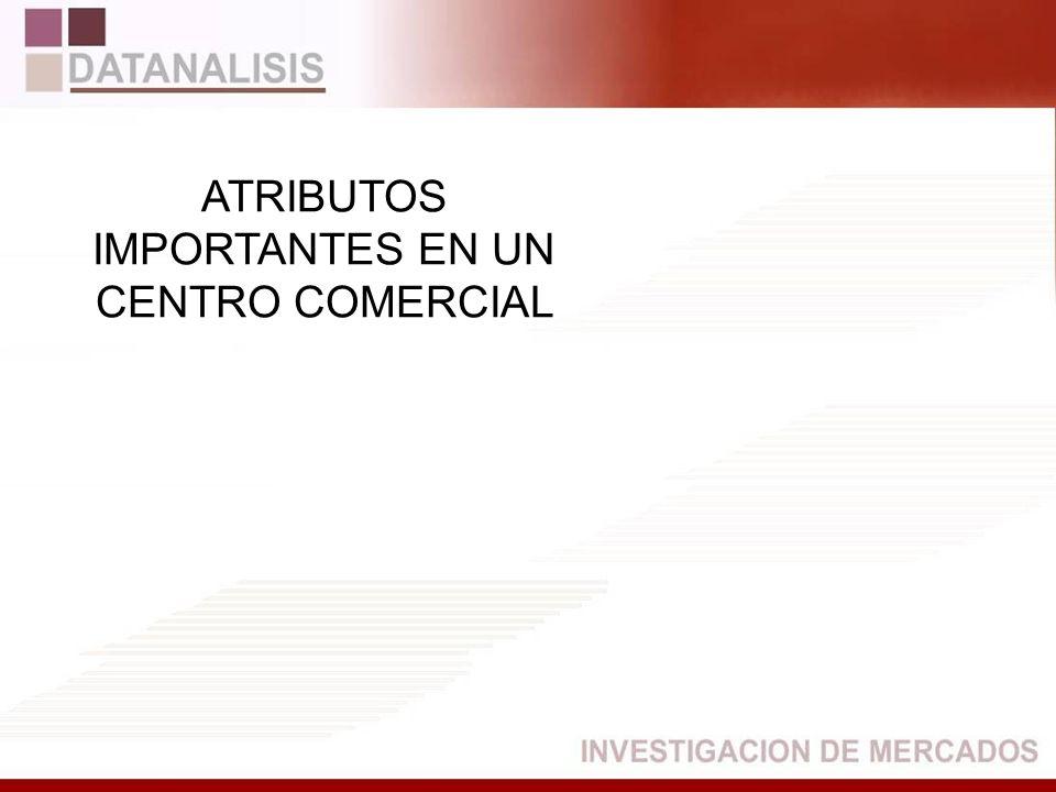 ATRIBUTOS IMPORTANTES EN UN CENTRO COMERCIAL