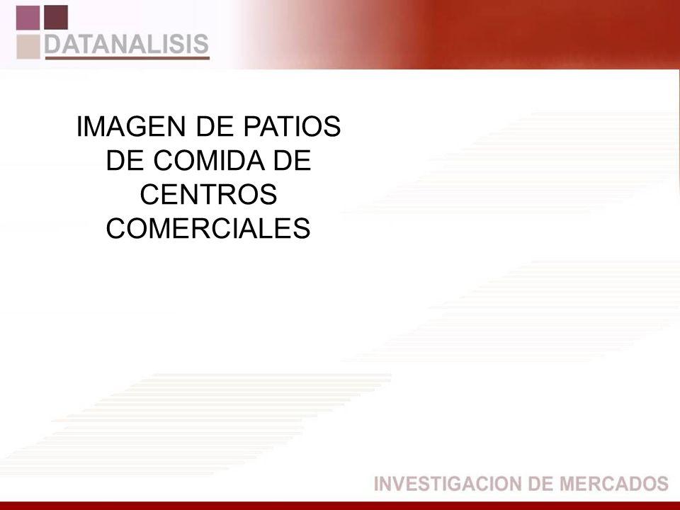 DE COMIDA DE CENTROS COMERCIALES
