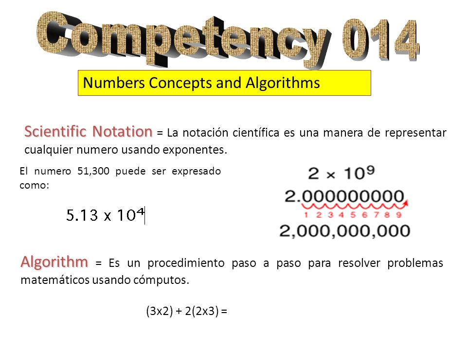 Competency 014 Numbers Concepts and Algorithms