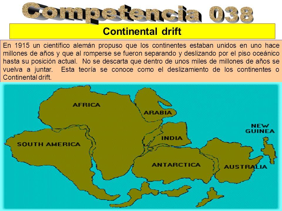 Competencia 038 Continental drift