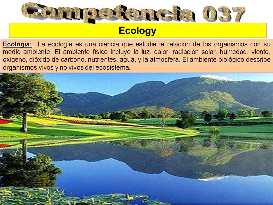 Competencia 037 Ecology.