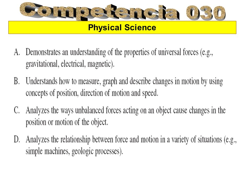 Competencia 030 Physical Science