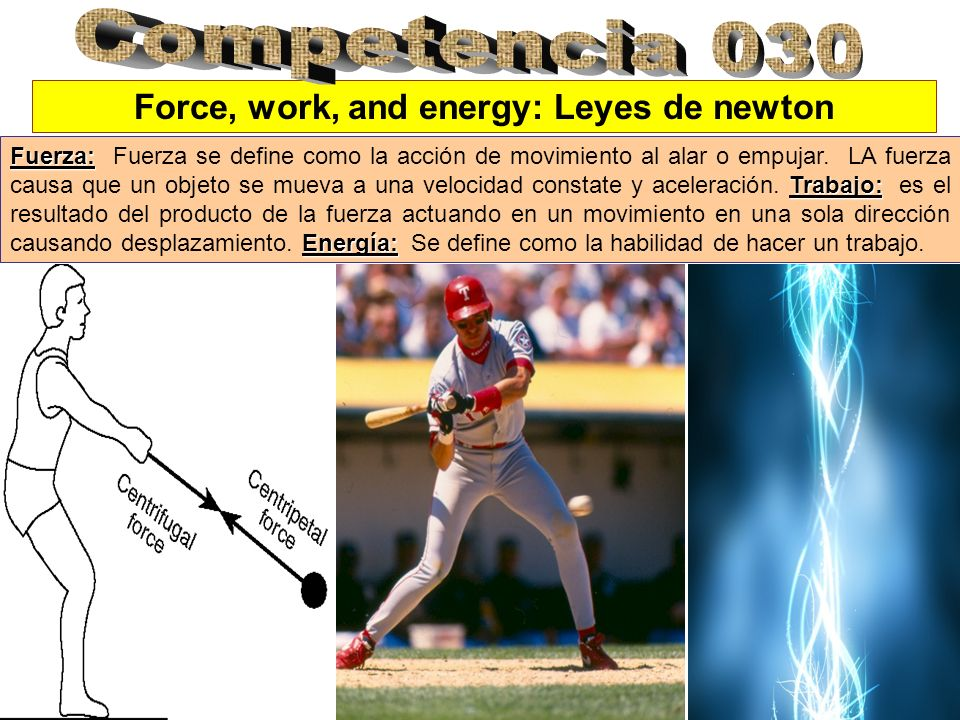 Force, work, and energy: Leyes de newton