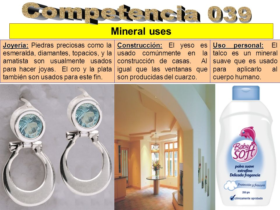 Competencia 039 Mineral uses