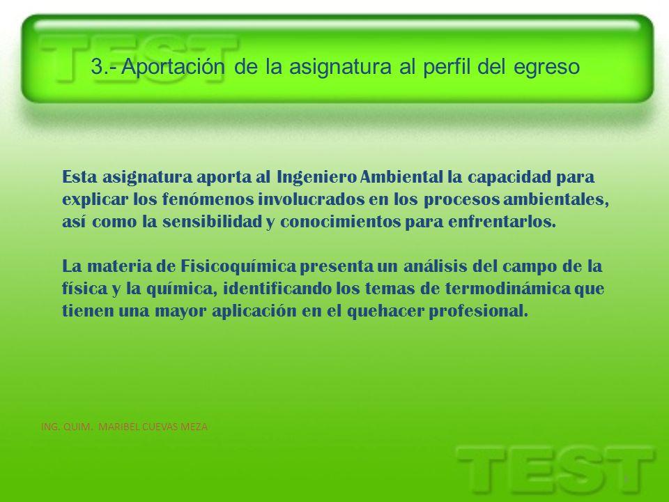3.- Aportación de la asignatura al perfil del egreso