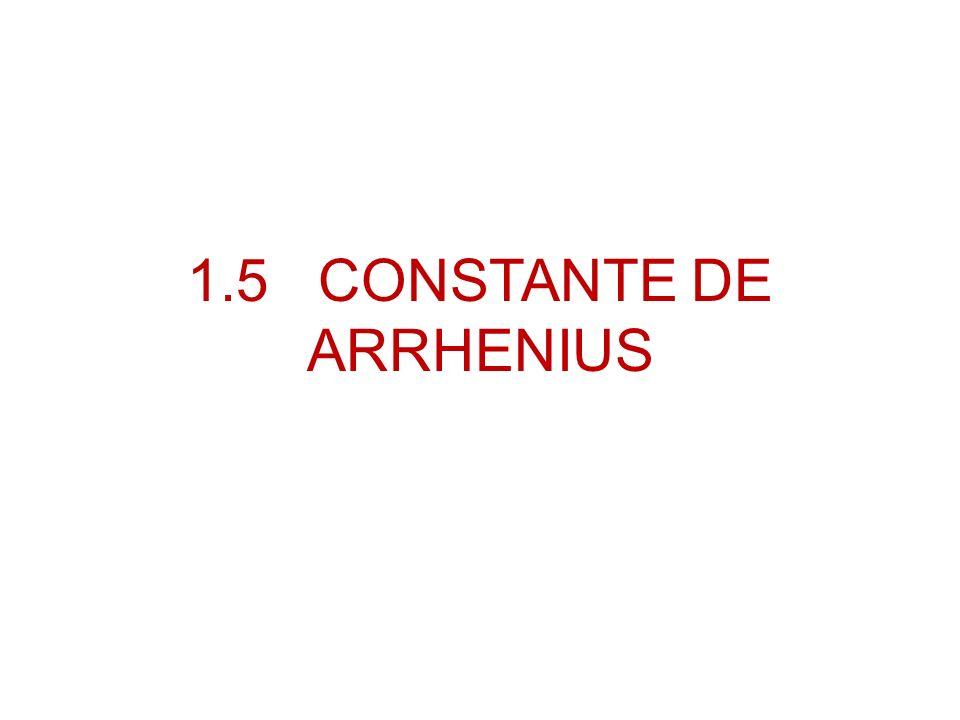 1.5 CONSTANTE DE ARRHENIUS