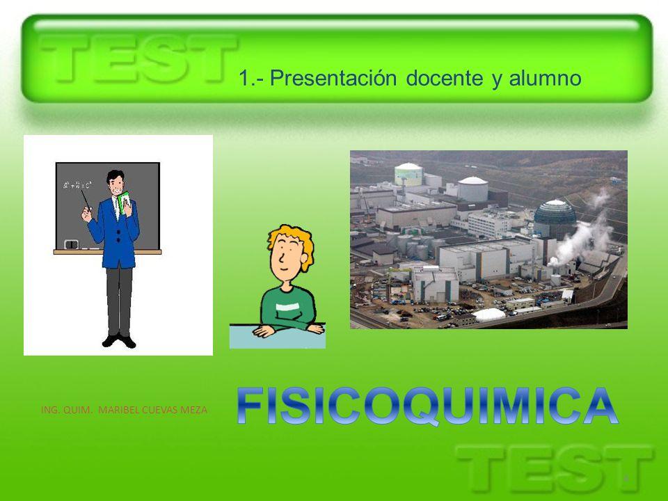1.- Presentación docente y alumno