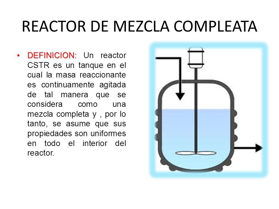 REACTOR DE MEZCLA COMPLEATA