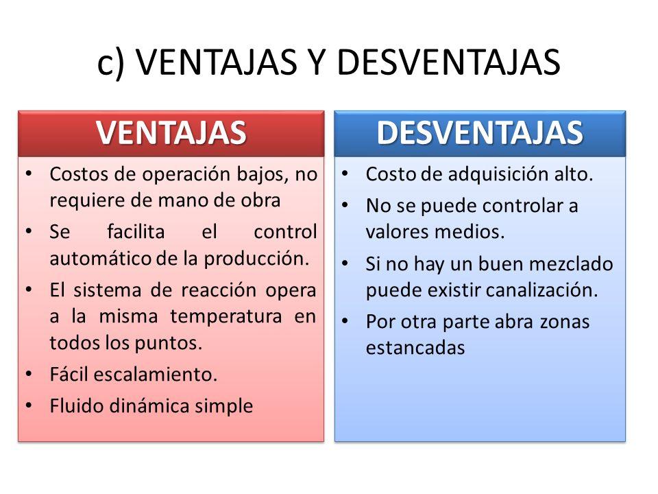 c) VENTAJAS Y DESVENTAJAS