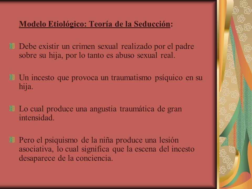 Modelo Etiológico: Teoría de la Seducción: