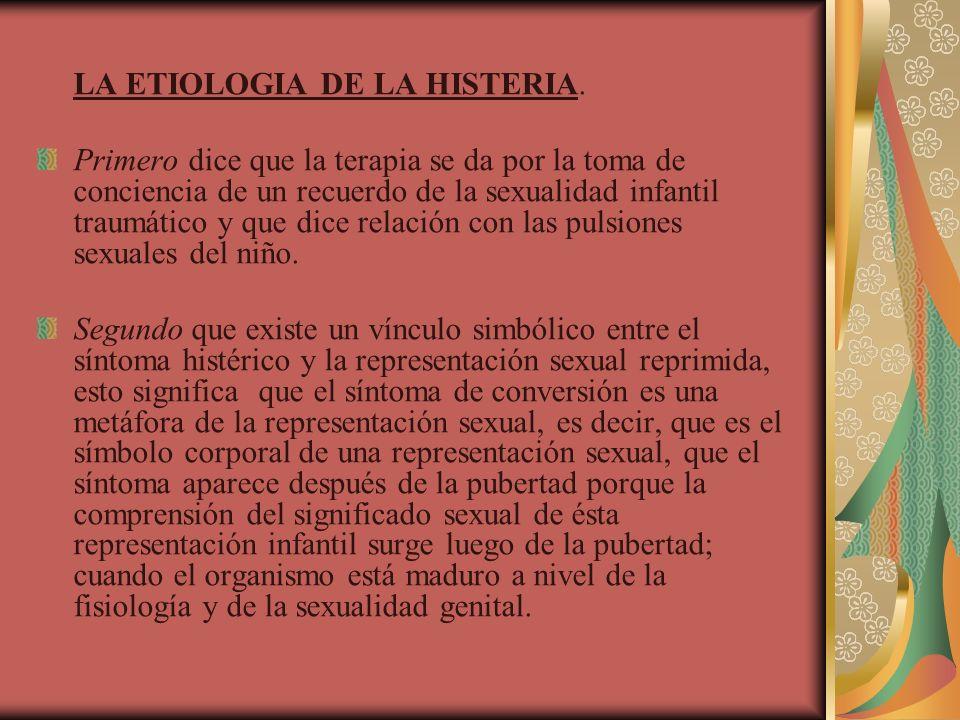 LA ETIOLOGIA DE LA HISTERIA.