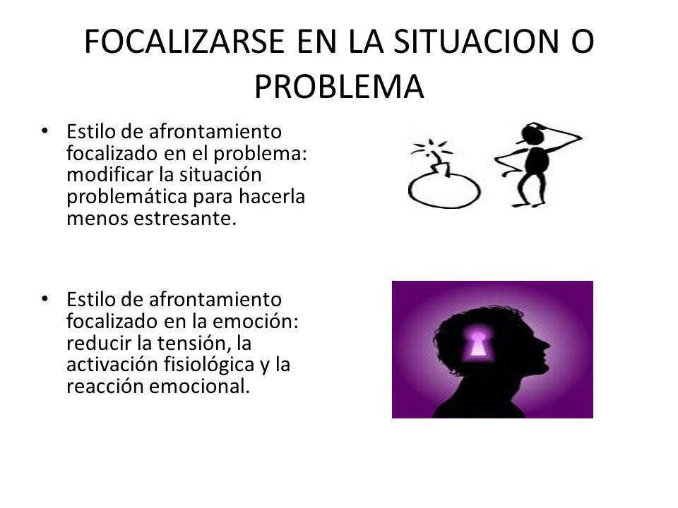 FOCALIZARSE EN LA SITUACION O PROBLEMA