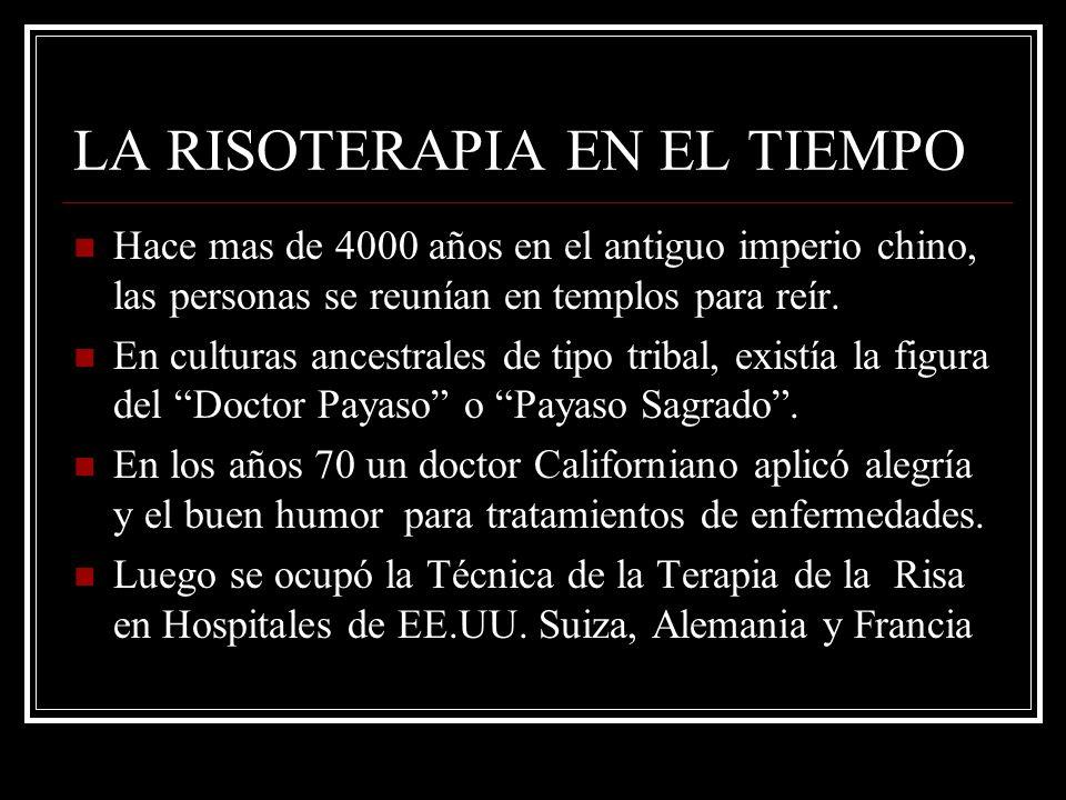 LA RISOTERAPIA EN EL TIEMPO