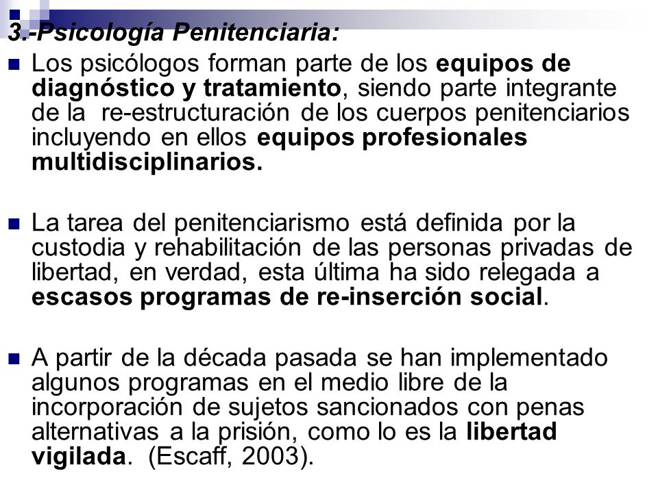 3.-Psicología Penitenciaria: