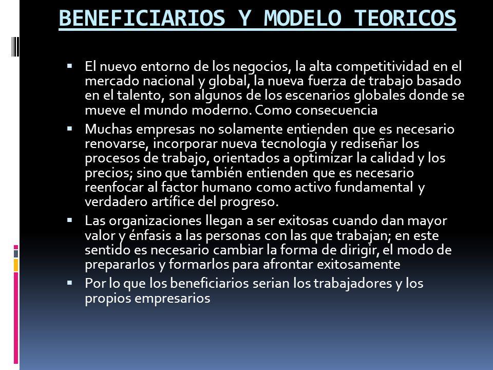 BENEFICIARIOS Y MODELO TEORICOS