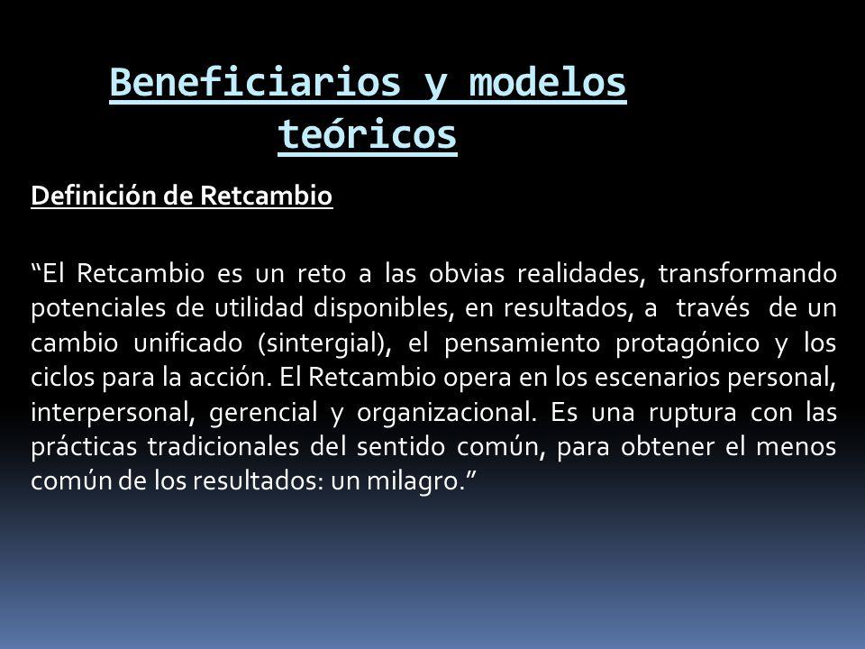 Beneficiarios y modelos teóricos