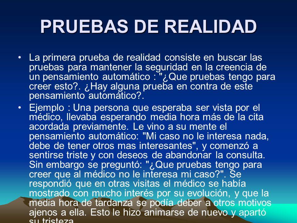 PRUEBAS DE REALIDAD