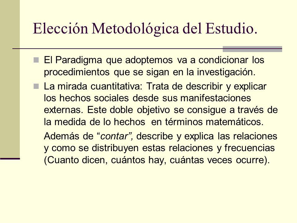 Elección Metodológica del Estudio.