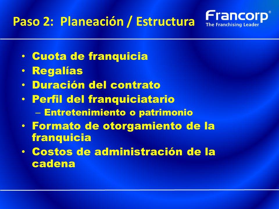 Paso 2: Planeación / Estructura