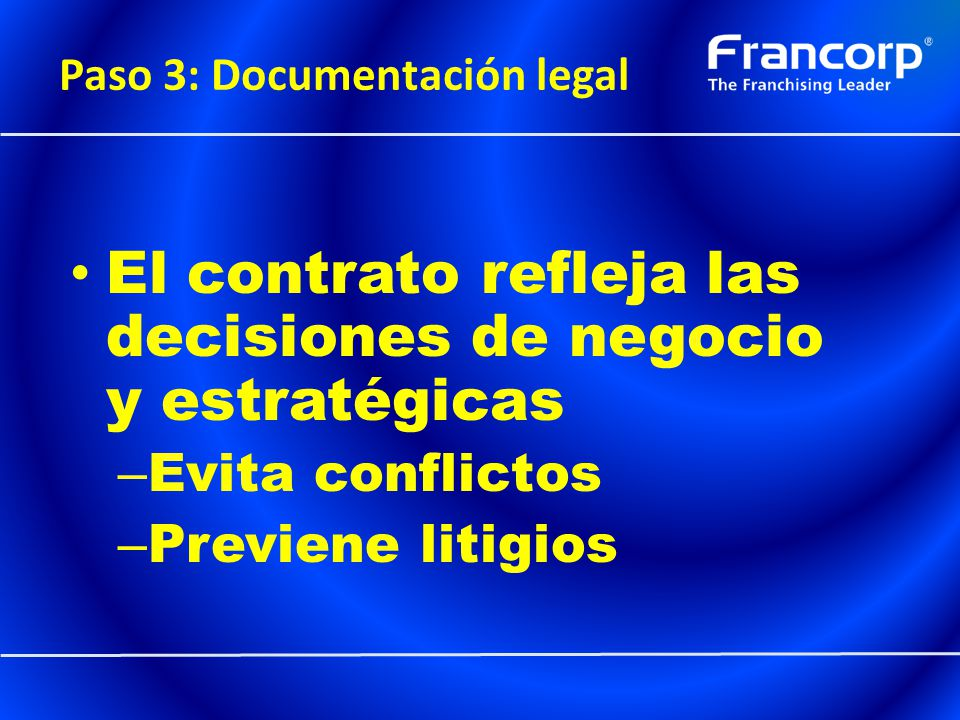 Paso 3: Documentación legal