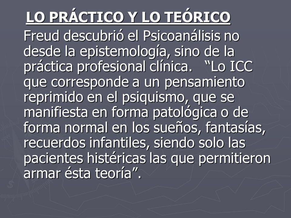 LO PRÁCTICO Y LO TEÓRICO