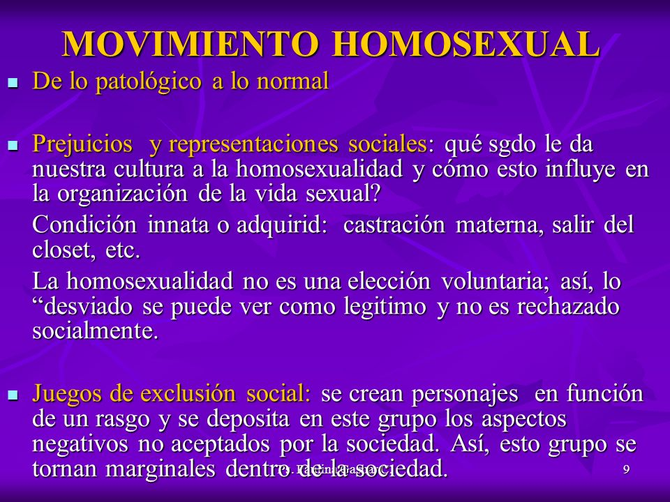 MOVIMIENTO HOMOSEXUAL