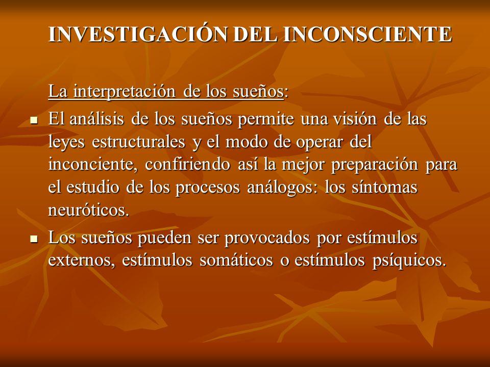 INVESTIGACIÓN DEL INCONSCIENTE