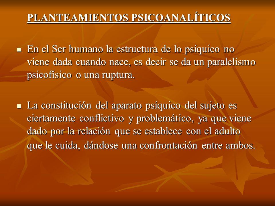 PLANTEAMIENTOS PSICOANALÍTICOS