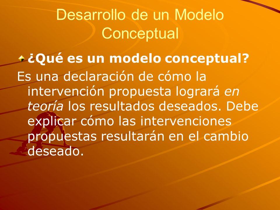 Desarrollo de un Modelo Conceptual