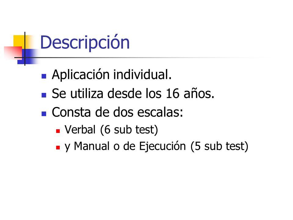 Descripción Aplicación individual. Se utiliza desde los 16 años.