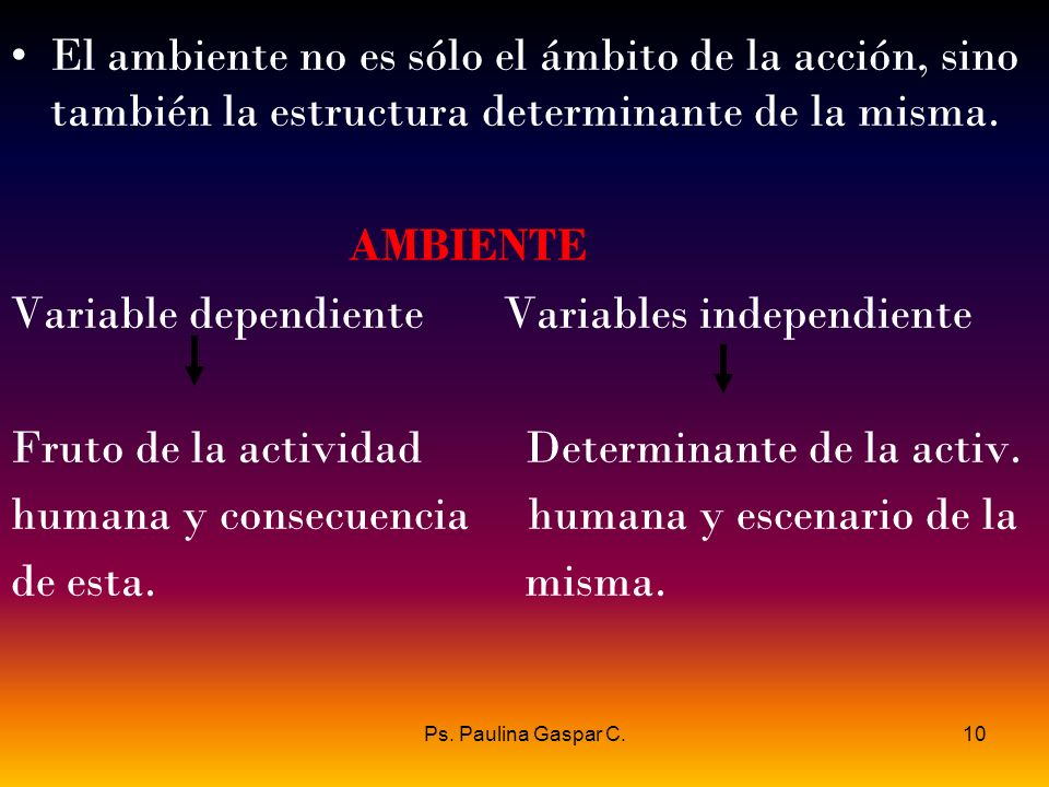 Variable dependiente Variables independiente
