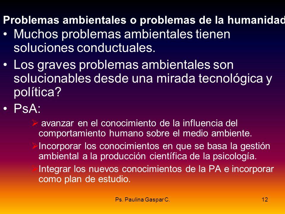 Problemas ambientales o problemas de la humanidad