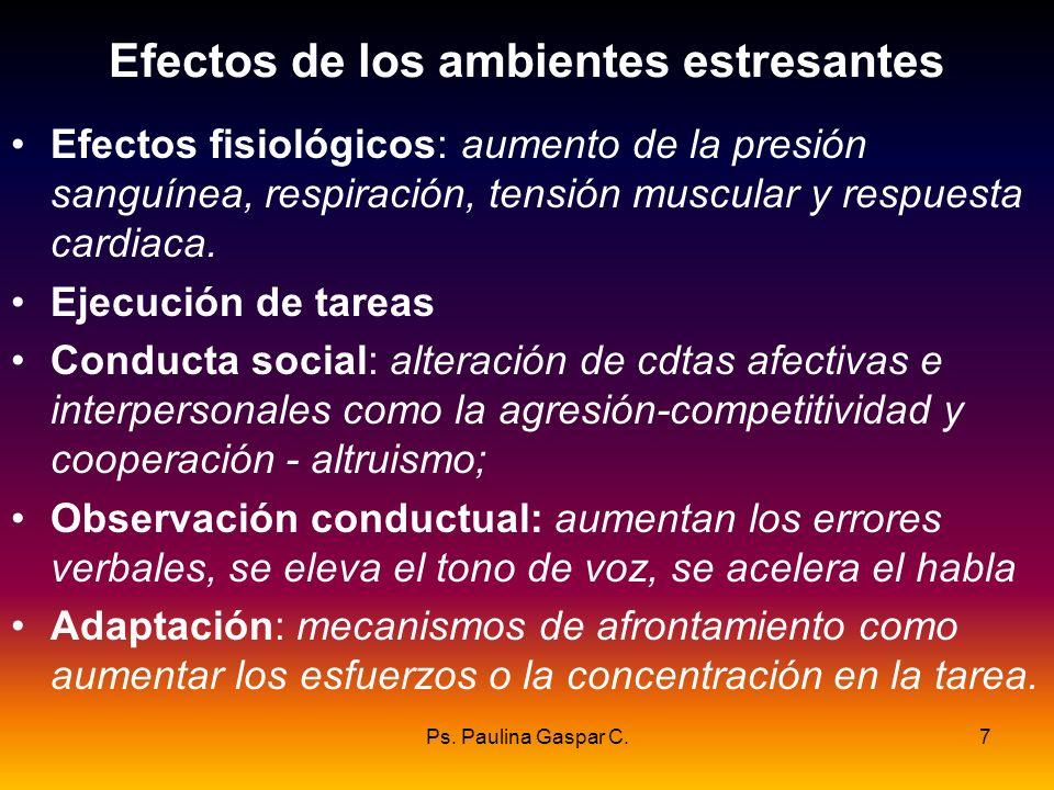 Efectos de los ambientes estresantes