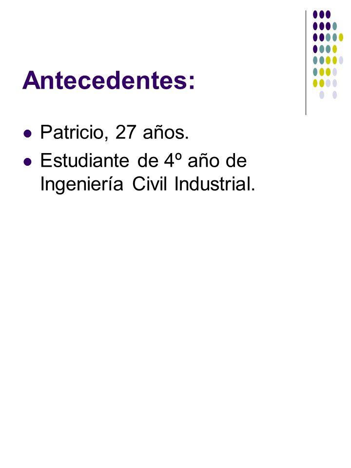 Antecedentes: Patricio, 27 años.