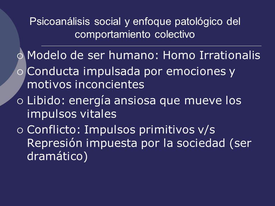 Psicoanálisis social y enfoque patológico del comportamiento colectivo