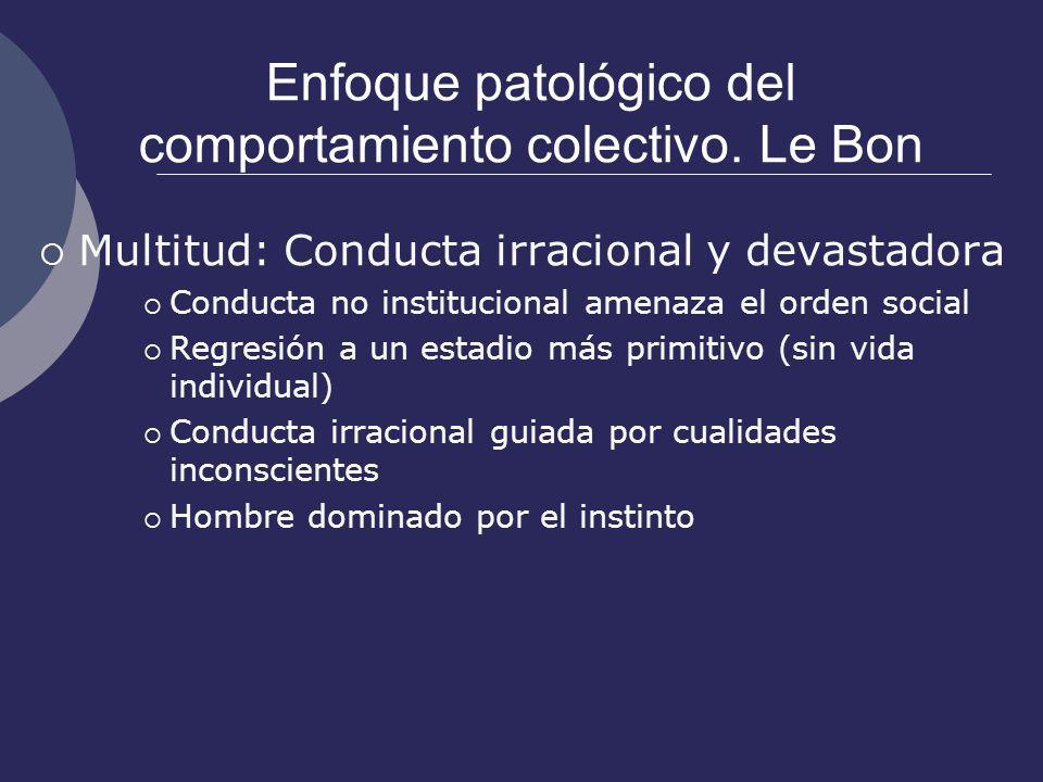 Enfoque patológico del comportamiento colectivo. Le Bon