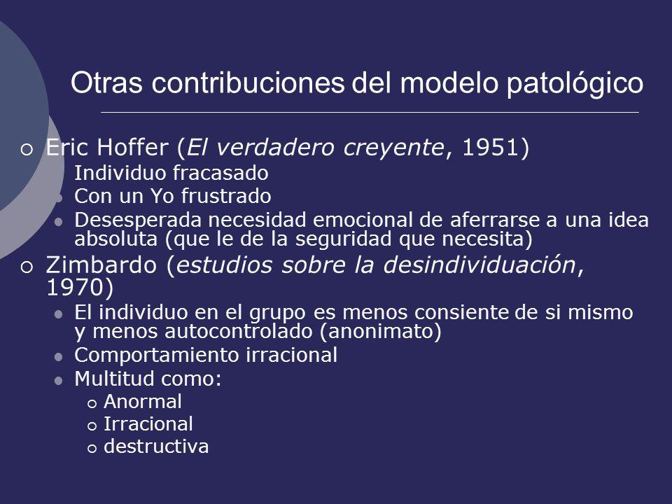 Otras contribuciones del modelo patológico