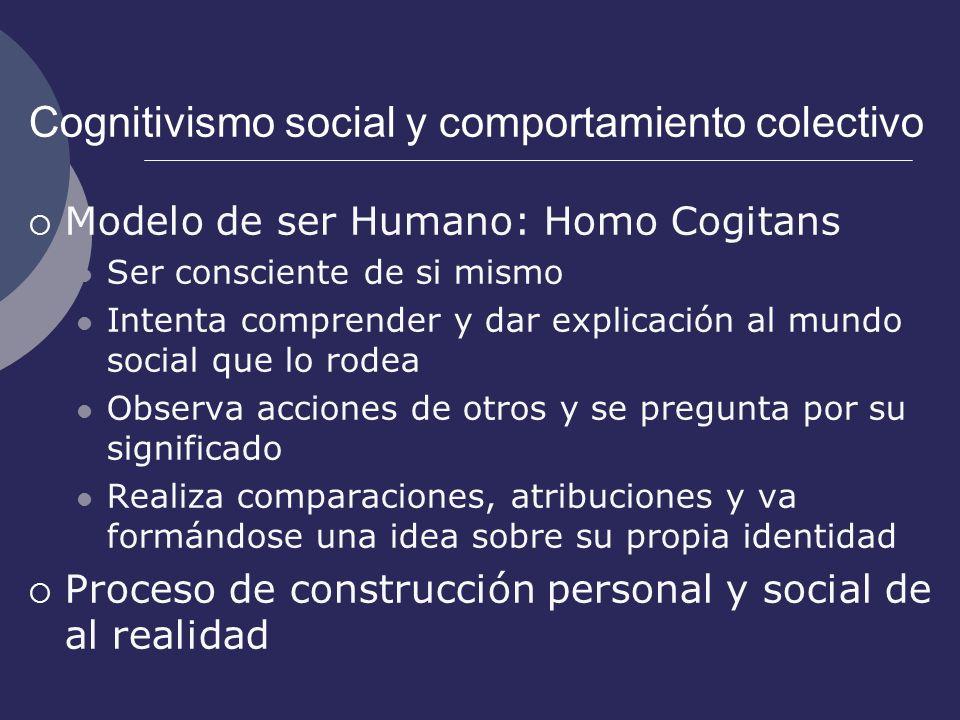 Cognitivismo social y comportamiento colectivo