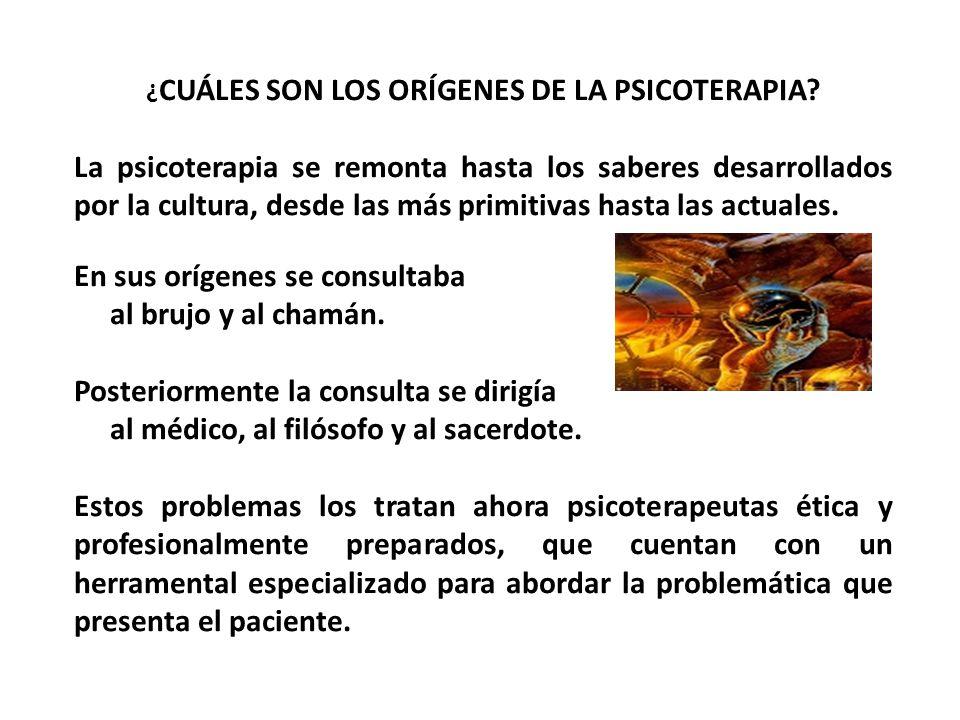 ¿CUÁLES SON LOS ORÍGENES DE LA PSICOTERAPIA