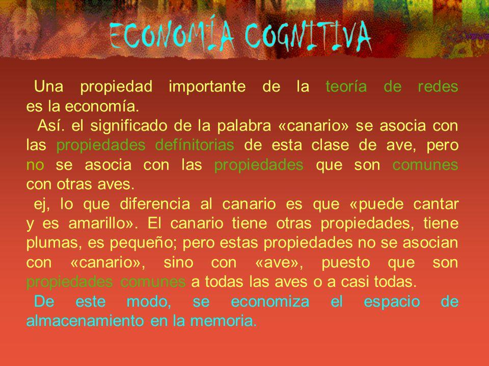 ECONOMÍA COGNITIVA Una propiedad importante de la teoría de redes es la economía.