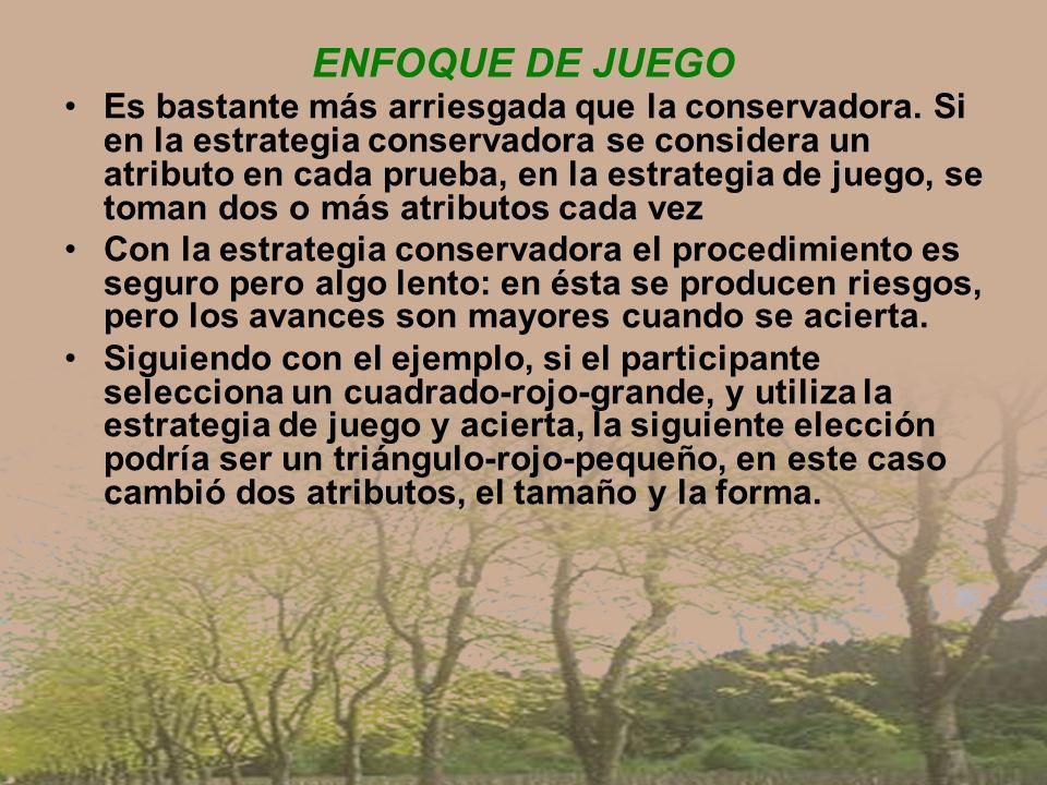 ENFOQUE DE JUEGO